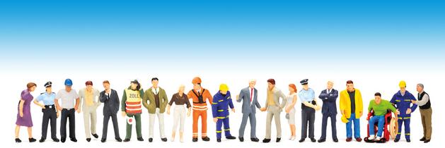 Darstellung von Versicherten verschiedener Berufsgruppen der UVB